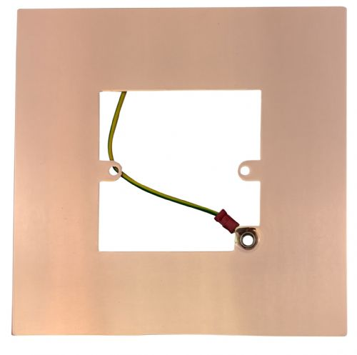 G&H 809BC Bright Copper Finger Plate Surround 152mm x 152mm for Single Plate